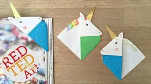 unicorn corner bookmark red ted art u0027s blog