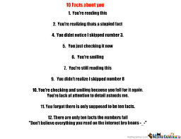 10 facts about you by recyclebin meme center