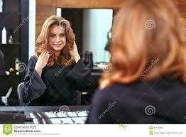 women u0027s haircut hairdresser beauty salon stock photo image
