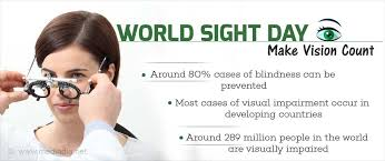 World Blindness Day World Sight Day Make Vision Count