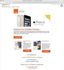 an example of a mobile responsive email template