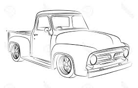 Old Ford Truck Vector - best free old pickup digital drawing stock vector car truck