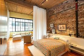 Room Curtains Divider Curtain Room Dividers Bedroom Industrial With Brick Wall Built In