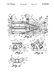 patent us5155986 folding hay raking and windrowing apparatus