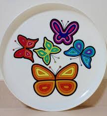 butterfly platter vintage butterfly plastic serving tray butterfly platter