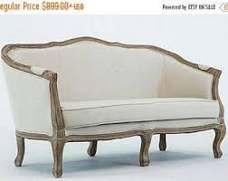Loveseat Settee Upholstered Settee Etsy