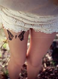 butterfly wings on right thigh