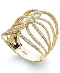 ring gold d oro by effy diamond swirl ring in 14k gold 1 2 ct t w