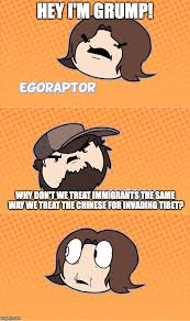 Game Grumps Memes - image tagged in hey i m grump game grumps jontron racism alt right