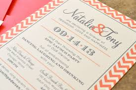 Create Wedding Programs Online Wedding Invitations White Paper Design With Orange Strippes