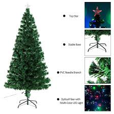 Christmas Tree With Optical Fiber Lights - amazon com 7 u0027 artificial holiday fiber optic led light up