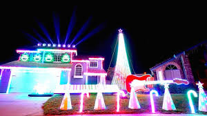 a spooktacular u0027nightmare before christmas u0027 light show synced to