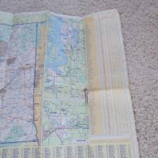 Highway Map Of Oregon by Vintage 1968 Union 76 Washington Oregon Road Map State Highway