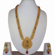 gold antique necklace sets images Buy multi color gold plated antique necklace set for women girls jpg