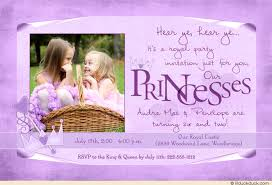 double princess party invitation color photo sisters