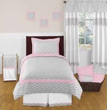 circo 4pc crib bedding set gray chevron 6471t grey zig zag ebay