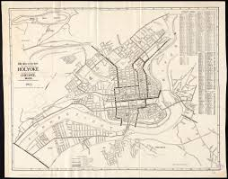 Map Of Mass The Price U0026 Lee Co U0027s New Map Of The City Of Holyoke And Part Of