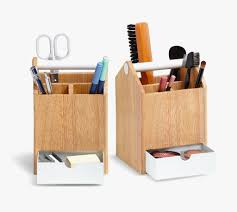 Wood Desk Accessories And Organizers Accessories White And Wood Pencil Pen Holder Unique Desk
