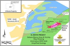 Colombian Map Gold Exploration Gold Copper Zinc Ores Polymetallic Gold Copper