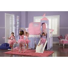 Bedroom Attractive Pink Princess Bunk Bed For Girls - Pink bunk beds for kids