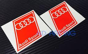 audi sport store audi sport decals stickers style 4 x 2 pcs kd racing vinyl