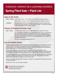 Ohio State Parking Map by 2016 List Of Plants For Sale Chadwick Arboretum U0026 Learning Gardens