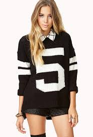 open knit varsity sweater forever 21 2000093114