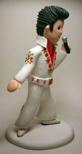 elvis cake topper elvis 50th birthday gift wedding cake toppers by feats of clay