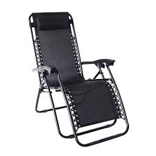 Black Patio Chairs by Amazon Com Odaof Zero Gravity Recliner Lounge Patio Pool Chair