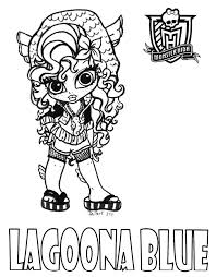 Coloriage baby lagoona monster high sur Jeudefillecom