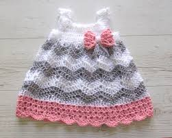 baby crochet dress baby shower gift dress