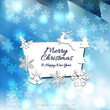merry christmas and happy new year card design ne wall