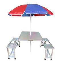 portable folding picnic table sobo gadgebucket aluminium portable folding picnic table chairs