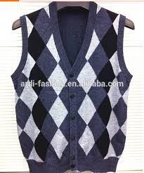 unisex mens womens 100 cotton intarsia knit sleeveless