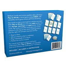 amazon com play on words card game extra creative word making