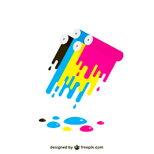 cmyk colorful paint stains vector free download