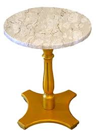 Pedestal Accent Table Amazon Com Round Marble Top Accent Table Gold Pedestal Base Handmade