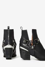 orwell boot gal jeffrey cbell orwell leather harness boot in black lyst