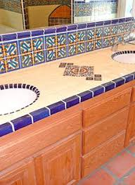 bathroom tile what works terra cotta sinks and spanish
