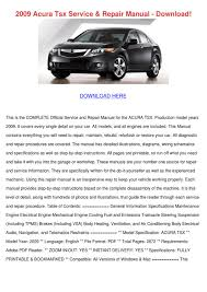 2009 acura tsx service repair manual download by freemandurant issuu
