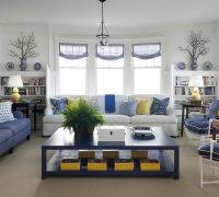 blue ikat chair living room traditional with white molding