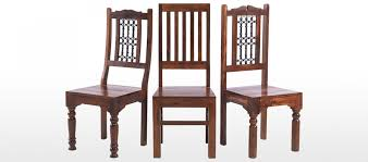 Dining Chairs Jali Sheesham High Back Slat Dining Chairs Pair Quercus Living