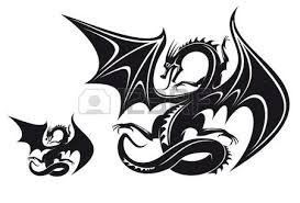 1 196 black dragon wings stock vector illustration and royalty