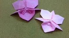 origami orchid tutorial base flor 5 petalas origami pinterest origami and craft