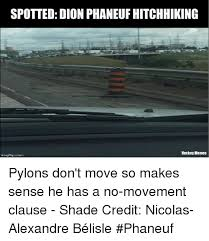 spotted dion phaneuf hitchhiking hockey memes pylons don t move so