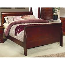 amazon com 4pc solid pine queen size bed complete awesome sleigh beds with handly manor pecan 3 pc queen bed dark wood