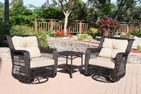 august grove hayden 3 pieces swivel glider wicker set u0026 reviews