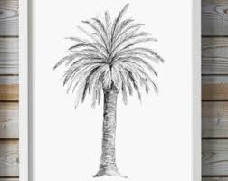 palm tree drawing etsy