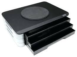 Modern Desk Organizer Desktop Printer Stand Wood Top Adjustable Printer Swivel Stand