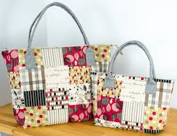 pattern for tote bag with zipper 1 yard magic lecre bags from lecien sewcanshe free sewing